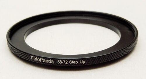 FotoPanda moleteado Aluminio 58 Mm a 72 mm 58 72 mm filtro anillo adaptador paso