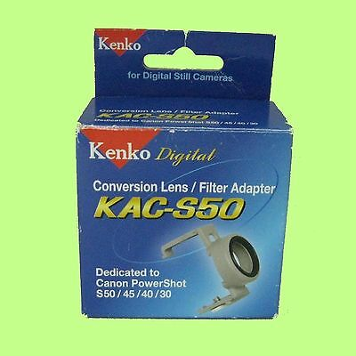 Kenko KAC-S50 Conversion Lens/Filter Adapter for Canon PowerShot S50 S45 S40 S30