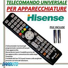 TELECOMANDO UNIVERSALE PER APPARECCHI MARCA HISENSE - INVIARE MODELLO TV O DDT