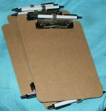 Standard Trade Size Clipboard 6 X 9 Hardboard 6 Pieces Ballpoint Pen Nice