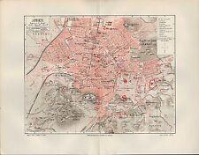 Landkarte city map 1905: Stadtplan Athen. Griechenland Greece Metropolis Olympie