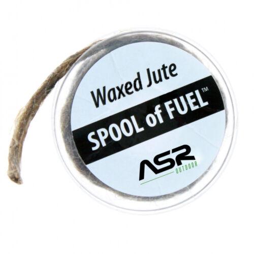 ASR Outdoor Waxed jute Bobine de carburant d/'incendie de secours de démarrage outil stockage case