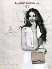 Publicité Advertising 2011  LANCEL créé par Dali sac à main collection mode