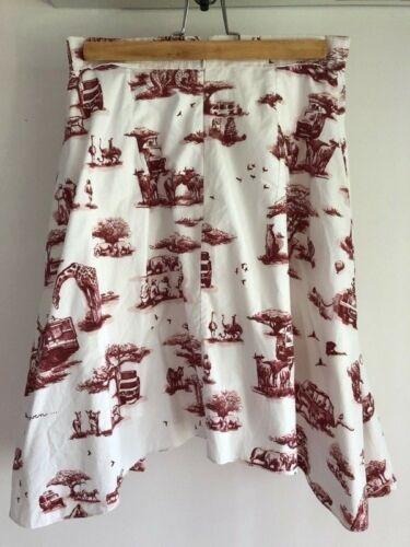 Carven iconic Toile Safari Skirt Toile Du Jouy FR3