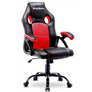 US-Racing-Style-Office-Gaming-Chair-PC-Computer-Desk-Seat-Adjustable-PU-Leather