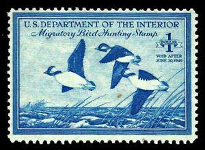 RW15-Unused-Federal-Duck-Stamp-of-1948-OGLH-F-VF-CV-18-75-ESP-0758