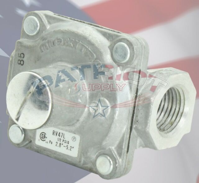 Outlet  Natural Gas Pressure 4.0-8.0 Maxitrol Regulator RV47L 1//2 inch Inlet