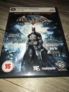 Batman-Arkham-Asylum-PC-DVD-Games-for-Windows-Live-komplett-mit-Booklet-sehr-guter-Zustand