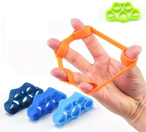Finger Hand Exerciser Strengthener Carpal Relief Stretcher Resistance Grip Band