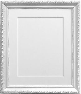 Elegant White Shabby Chic Picture Photo Frames Choice Of Mount