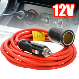 3-6M-12FT-12V-Car-Cigarette-Lighter-Extension-Cable-Lead-Charger-Socket-Adapter