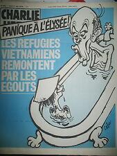 CHARLIE HEBDO N° 449 RéFUGIéS VIETNAMIENS DESSINS SATIRIQUES COUV PAR CABU 1979