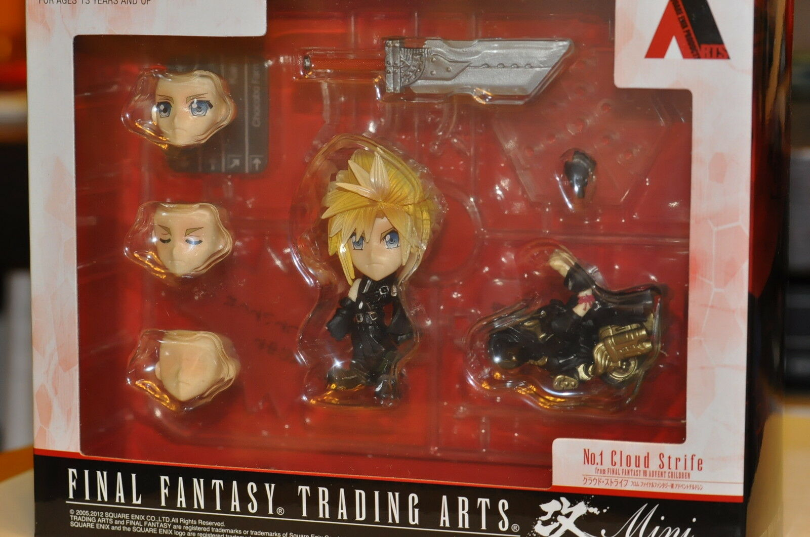 Square enix final fantasy trading kunst kai ff7 cloud strife figur