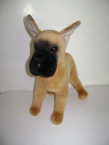 "DOUGLAS THE CUDDLE TOY STANDING DOG PUP PUPPY 16"" BROWN BLACK STUFFED PLUSH RARE"