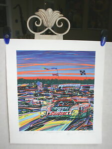 RANDY-OWENS-034-DAYTONA-SUNRISE-034-CASTROL-JAGUAR-AT-24-HOURS-LITHOGRAPH-1996