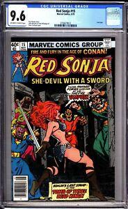 Red-Sonja-15-CGC-Graded-9-6-NM-Marvel-Comics-1979-Newsstand
