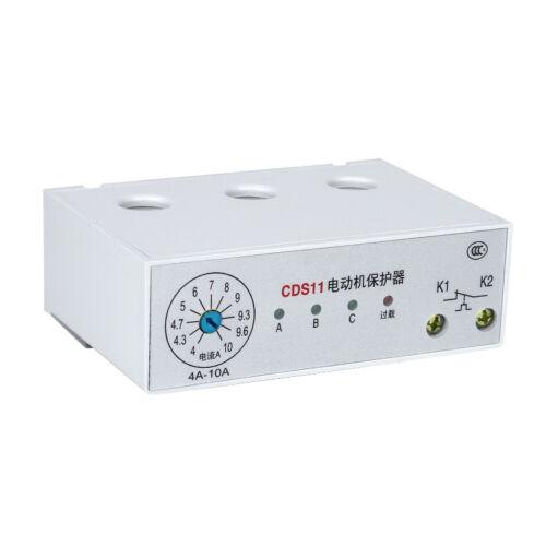 1PCS Motor Protector Uninterrupted 3 Phase Adjustable Current Motor AC 24V-380V