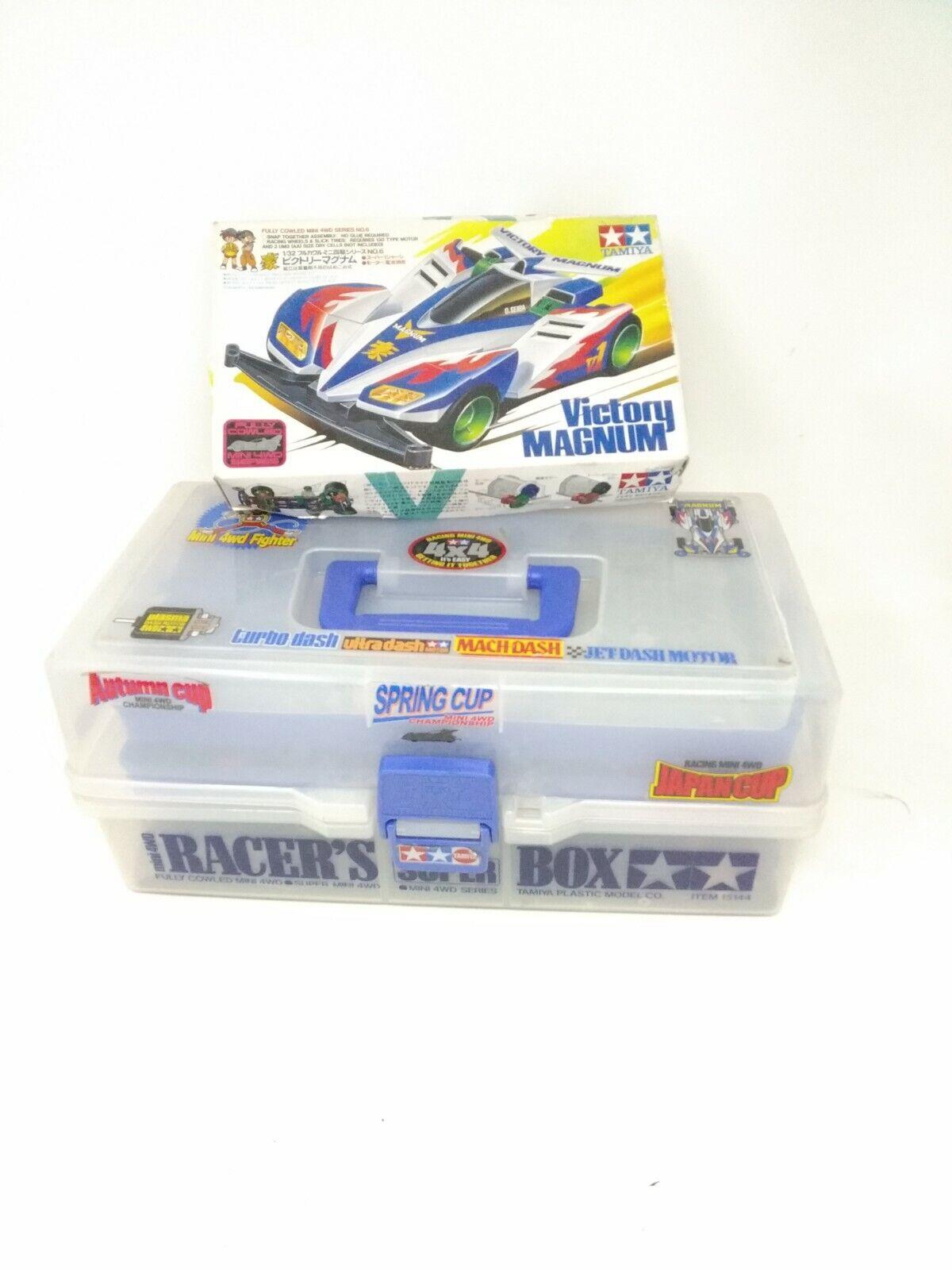 Mini 4WD lotto lots spare ricambi box scatola Tamiya