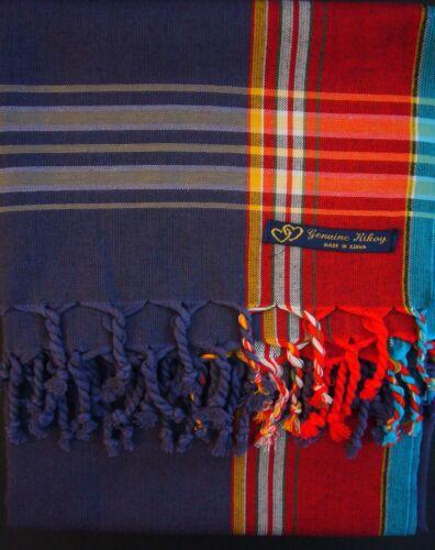 NUOVO Kikoy Kikoi Blu Rosso AFRICA cotone Sarong LANCIA Sciarpa Pareo Costumi Da Bagno Kenya