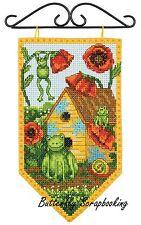 SUMMER Frog Mini Banner Debbie Mumm Dimensions Cross Stitch Kit 72-74134 NEW