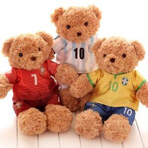 1663bf11 Plush Teddy Bear Soccer Football Club Shirts Fluffy Comfy Toy Globle ...