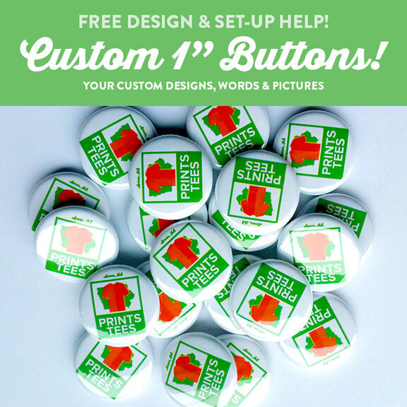 """20 Custom 2.25/"""" 2 1//4 inch buttons badge pin punk bands indie pins personalized"""