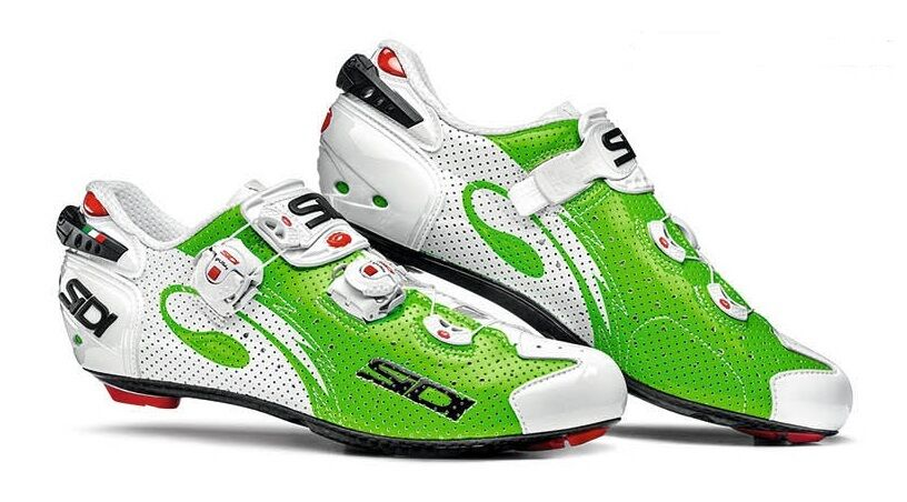New Sidi Wire Carbon Cycling shoes, EU39-44, Air Green Fluo