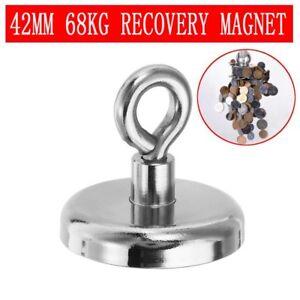 68KG-Aimant-Magnet-Puissant-Neodyme-Detecteurs-de-Metaux-Peche-Anneau