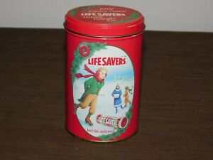 VINTAGE-KITCHEN-5-1-2-034-HIGH-1991-LIFESAVERS-CANDY-LIMITED-EDITION-TIN-CAN-EMPTY