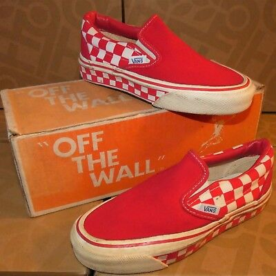 Vans #98 slip on années Skateboard Chaussures vintage made in the USA Baskets 3 rwcq | eBay