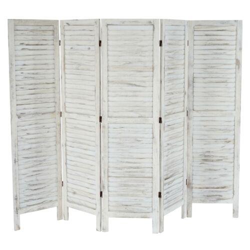 Shabby-Look Vintage weiß Paravent Raumteiler 170x228x2cm