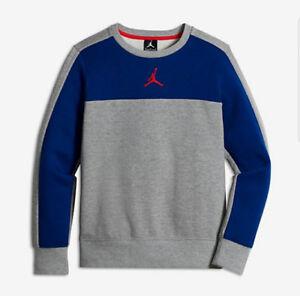 605280381039e2 Nike Air Jordan Boys  Flight Fleece Crewneck Pullover Size XL NWT