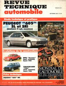 Inquiet Rta Revue Technique L'expert Automobile N° 519 Peugeot 605 Sl Sri RafraîChissement