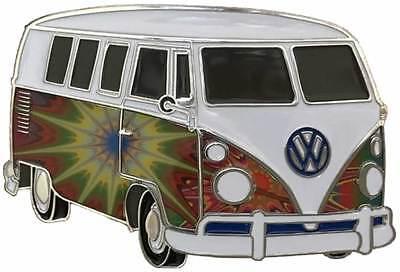 VW Starburst Campervan Officially Licensed Belt Buckle with display stand. VAN02