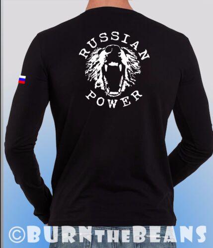 La Russie T-SHIRT Vladimir POUTINE puissance Russe ak-47 shirt ussian Drapeau
