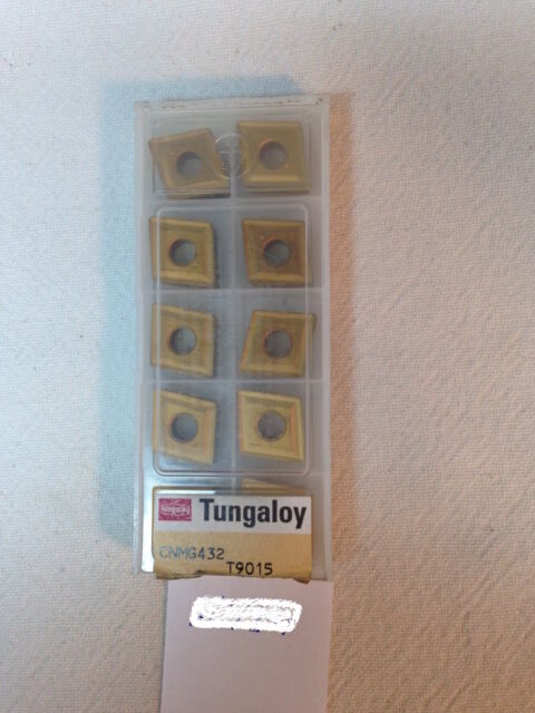 10 NEW TUNGALOY CNMG 432 CARBIDE INSERTS. CNMG 120408 GRADE: T9015 (H584)