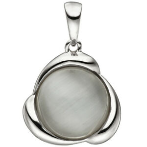 JOBO-Anhaenger-925-Sterling-Silber-1-Katzenauge-Silberanhaenger