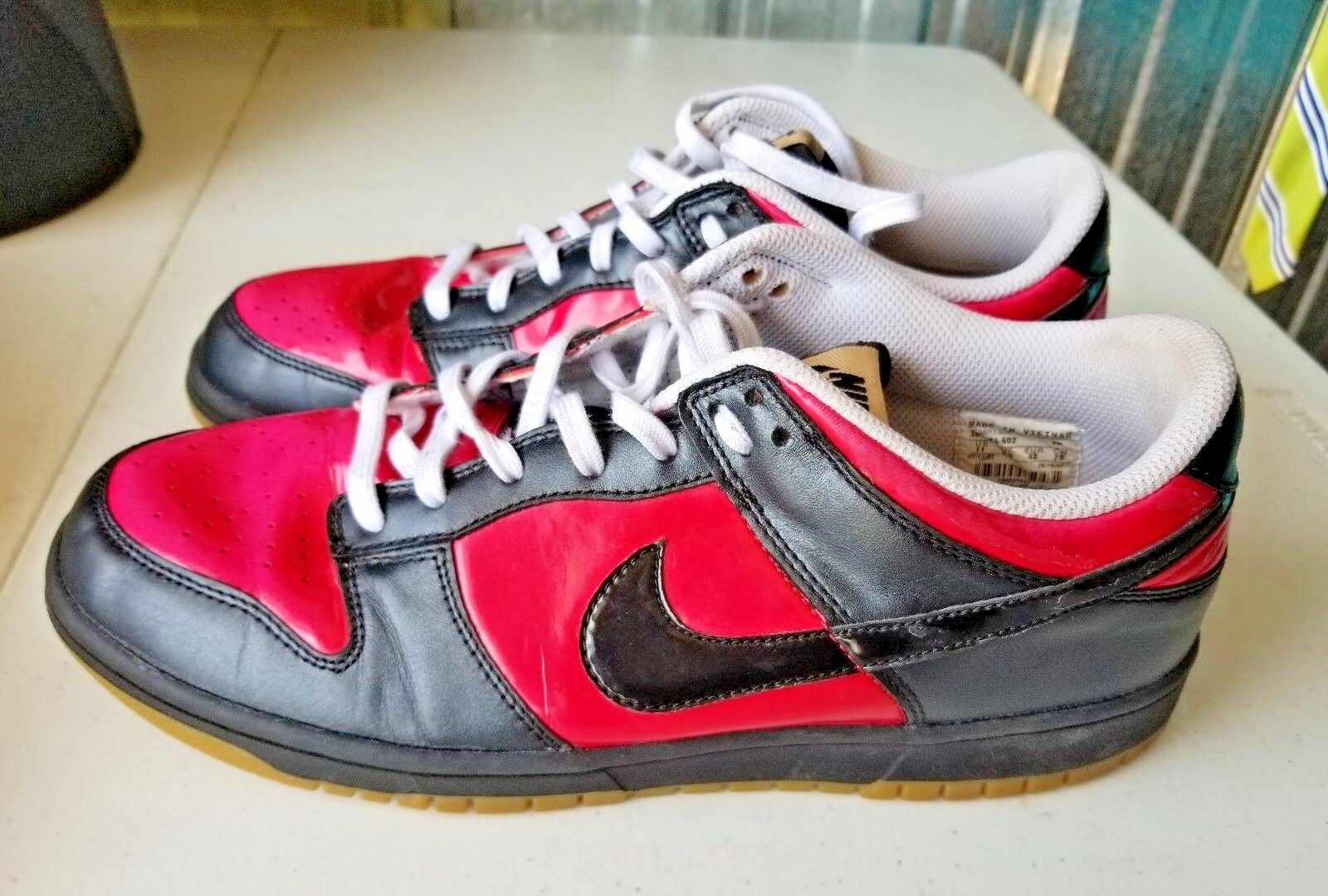 Nike Dunk Low 07' Pink Patent Gum Sole Sneakers Hipster Multi Women 11 Athletic