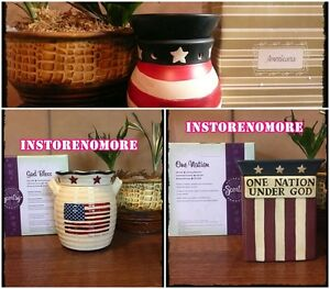 1 Scentsy Warmer Full Size Discontinued 4th Of July