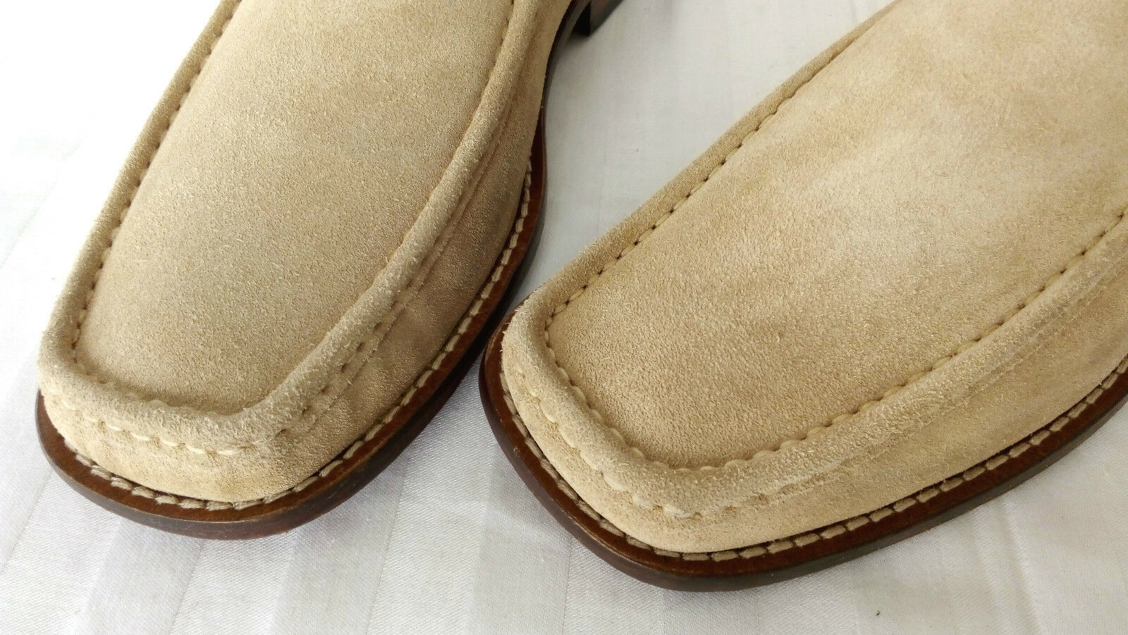Authentic Highline Loafer Mokassin Slipper Wildleder Genähte Ledersohle 43-43,5