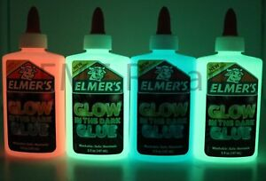 Elmers-GLOW-IN-THE-DARK-Color-Glitter-Glue-4-pack-Blue-Pink-amp-2-Green-Gr8-4-Slime
