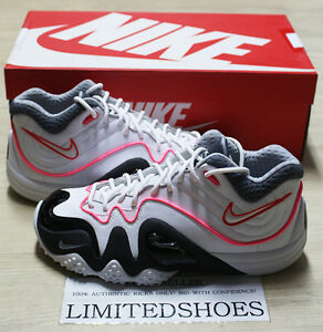 NIKE ZOOM UPTEMPO V 5 PREMIUM WHITE BLACK GREY PINK 366570-110 kidd air more
