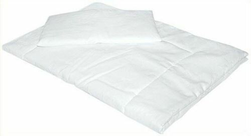 SOFT ANTI ALLERGY DUVET QUILT 120X90 CM WITH PILLOW FOR NURSERY BABY COT