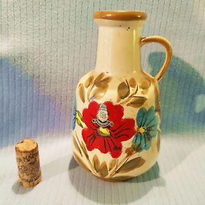 Handbemalte-Vase-ES-Keramik-50er-60er-Jahre-Form-818-15-WGP-Emmons-Soehne