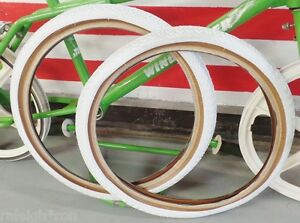 2-WHITE-SKINWALL-20-x-1-75-034-CHENG-SHIN-Bicycle-TIRES-for-Old-School-GT-BMX-Bike
