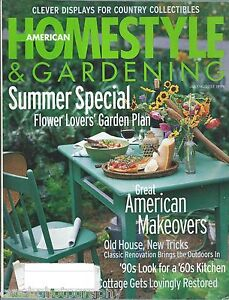Details About American Homestyle Gardening Magazine July August 1999 Summer Special