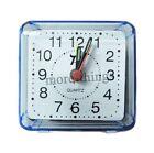Compacto de Viaje cuarzo Beep Despertador Mini reloj de mesa portátil azul