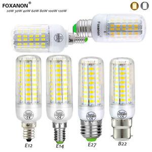 e27 b22 e14 5730 smd led corn bulb lamp light 20w 30w 60w 80w 100w leds110v 220v ebay. Black Bedroom Furniture Sets. Home Design Ideas