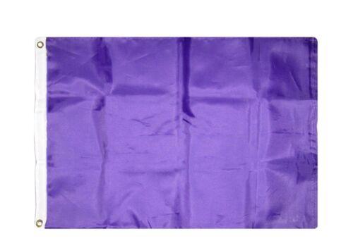 2 pack lot 2x3 Purple Solid Plain Blank Color Flag 2/'x3/' Banner Grommets