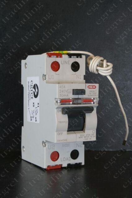 Fine Mem Rcd 40 Amp 30Ma Double Pole 40A Rccb Memera 2000 Am40He For Sale Wiring Digital Resources Dadeaprontobusorg